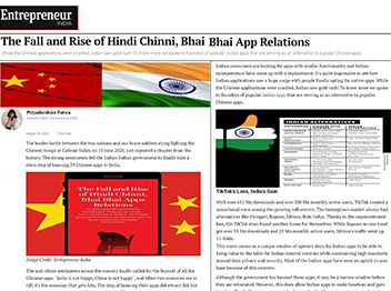 The Fall and Rise of Hindi Chinni, Bhai Bhai App Relations